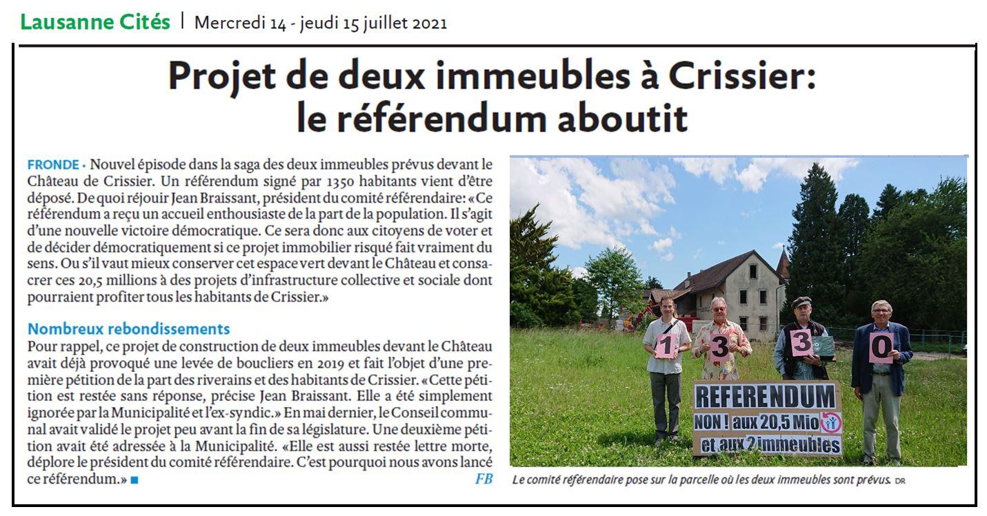 Lausanne Cite Referendum
