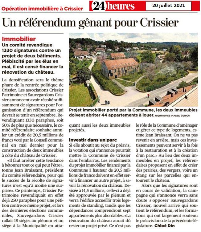 Referendum Immeubles du Château